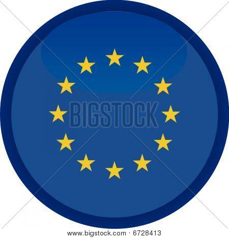 european union vector button