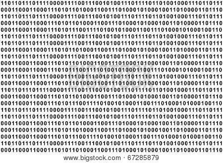 The Binary Code, black text on white background