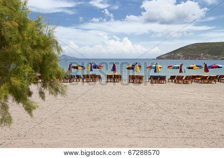 Beach at Patmos island in Greece