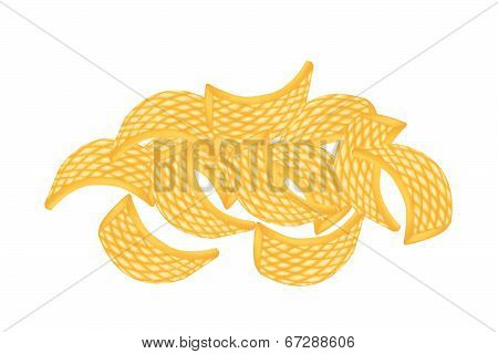 Thai Rice Crackers On A White Background