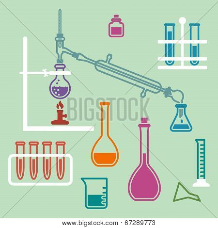 Chemistry lab equipment.