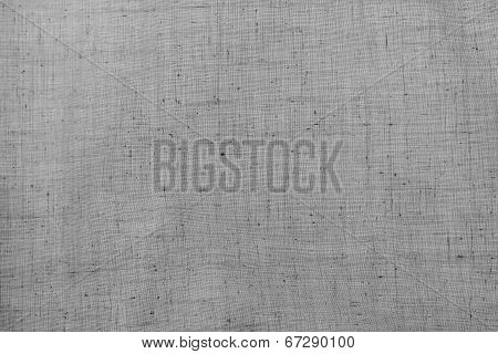 Texture Of Rough Cotton Or Linen Fabric