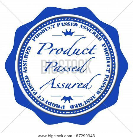 Product Passed Assured Stamp