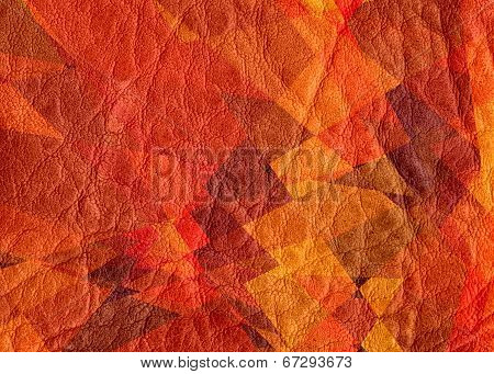Red orange leather texture background