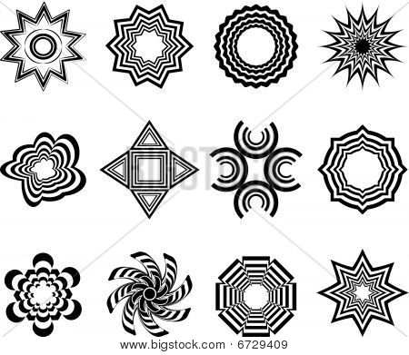 various abstract vector ornaments