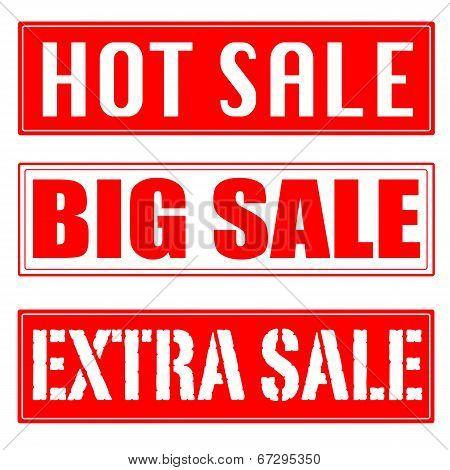 Big Sale, Hot Sale, Extra Sale Stamp
