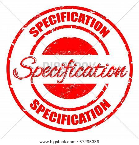 Specification Stamp