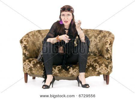 Eccentric Hippie Woman