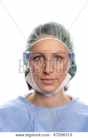 Young Nurse Or Doctor In Surgical Scrubs