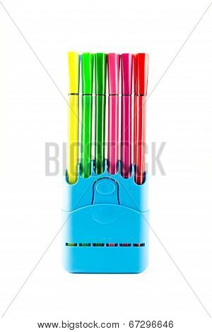 Colorful Pen In A Holder