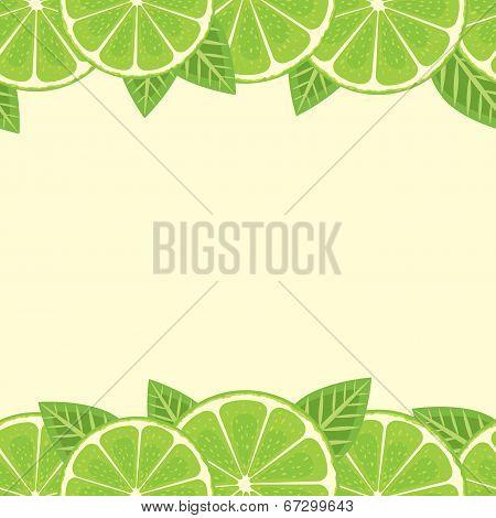 Lime seamless border