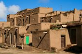 pic of pueblo  - Detail from Taos Pueblo in New Mexico USA - JPG