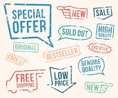 stock photo of exclusive  - Rubber stamps - JPG