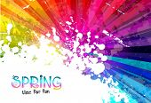 picture of explosion  - Spring Colorful Explosion of colors background for your party flyers - JPG