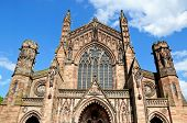 picture of hereford  - Front view of the Cathedral Hereford Herefordshire England UK Western Europe - JPG