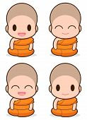 stock photo of buddhist  - Buddhist Monk illustration - JPG