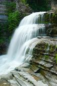 stock photo of lucifer  - Lucifer falls has to be photographed  from many different angles to capture all its beauty  - JPG