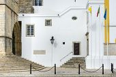 image of faro  - Part of the Se Cathedral in Faro Algarve Portugal - JPG
