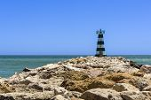 stock photo of vilamoura  - Lighthouse on South of Portugal in Vilamoura - JPG