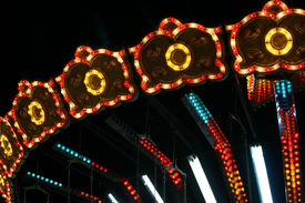 picture of carnival ride  - Colorful carousel - JPG