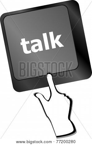Talk Word With Icon On Keyboard Keys Button