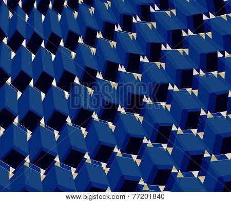 Ornate Background Design Blue