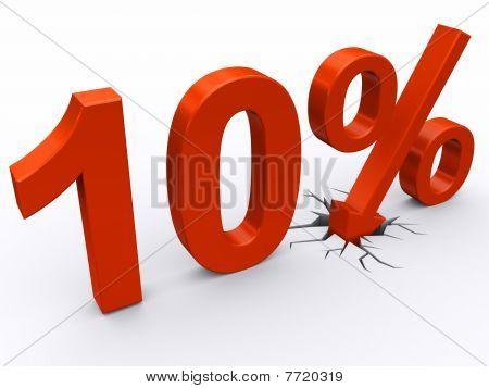 desconto de 10 %