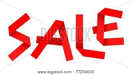 Vector Paper Sale Sign
