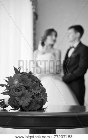 The couple in the room (monochrome)