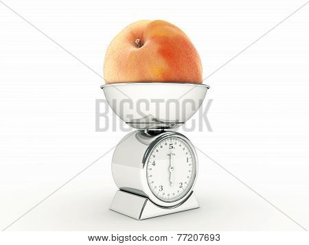 kitchen scale with Giant Peach
