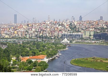 Golden Horn Inlet In Istanbul, Turkey