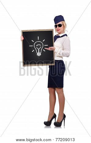 Blackboard With Lamp
