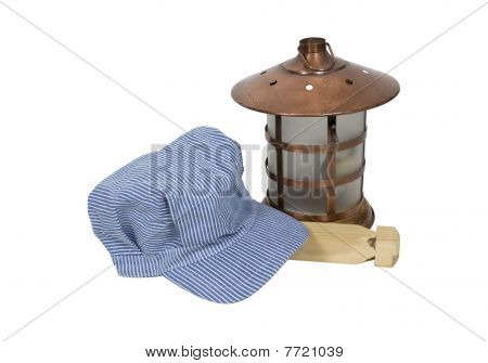 Railroad Engineer Hat And Lantern