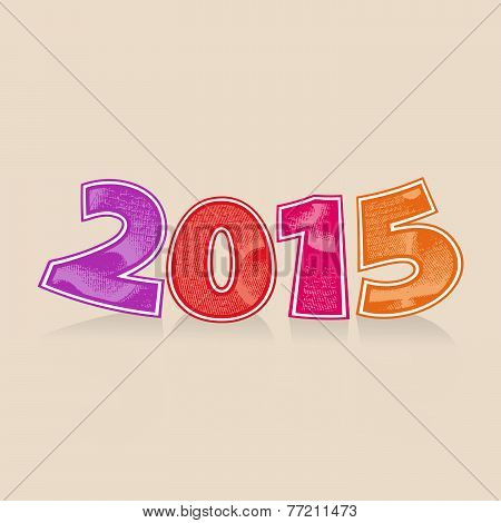 Abstract vector numbers 2015 New Year's