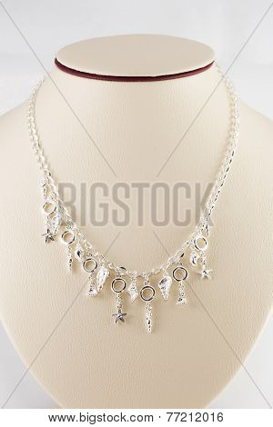 Silver Necklace And Pendant
