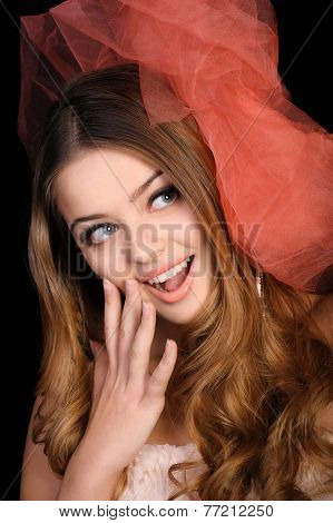 Young woman surpised and excited