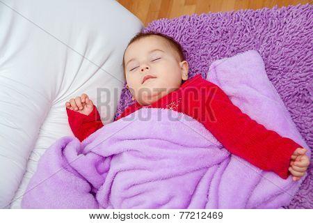 Cute baby girl sleeping