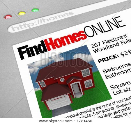Find Homes Online - Web Screen