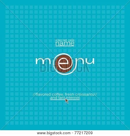 Internet cafe menu card design.