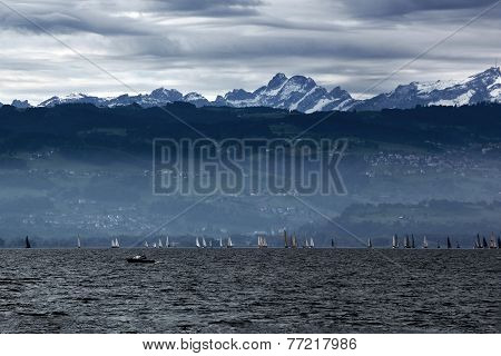 Storm Clouds over Lake Constance