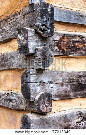 Corner Detail of Log House