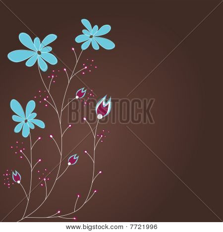Abstract background with flowers . vector illustration