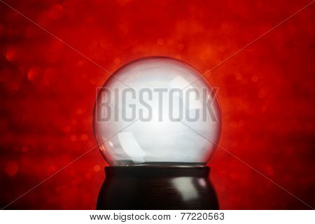 Empty snow globe Christmas background