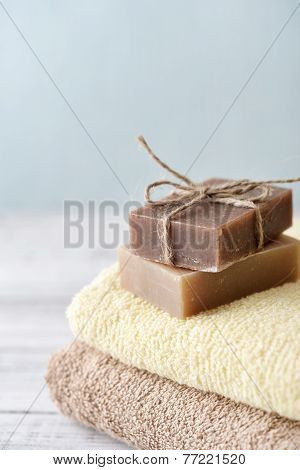 Towels With Soap Bars