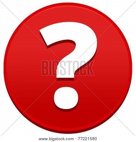 Big Red Question Mark Button
