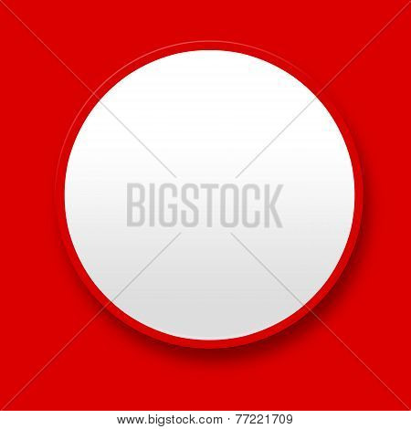 Big White Blank Button