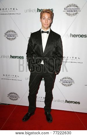 LOS ANGELES - NOV 8:  Austin North at the 3rd Annual Unlikely Heroes Awards Dinner And Gala at the Sofitel Hotel on November 8, 2014 in Beverly Hills, CA
