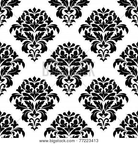 Damask floral pattern design