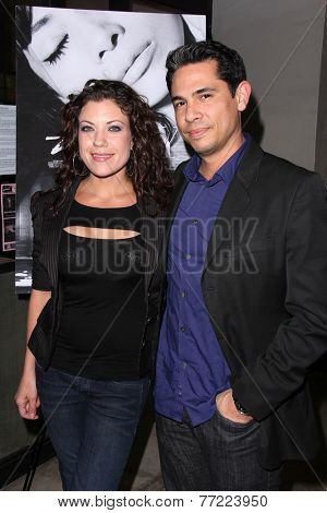 LOS ANGELES - NOV 21:  Tiffany Shepis, husband at the
