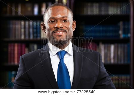 African lawyer in his studio
